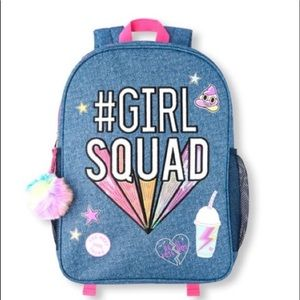 NWT Children's Place Hashtag Girl Squad Backpack